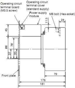 Kích thước MCCB NF250-HGW RE 2